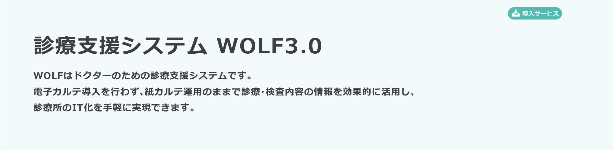 診療支援システム WOLF3.0|医療|ICC 石川コンピュータ・センター